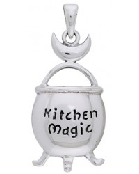 Kitchen Magic Cauldron Pendant in Sterling Silver Mystic Convergence Metaphysical Supplies Metaphysical Supplies, Pagan Jewelry, Witchcraft Supply, New Age Spiritual Store