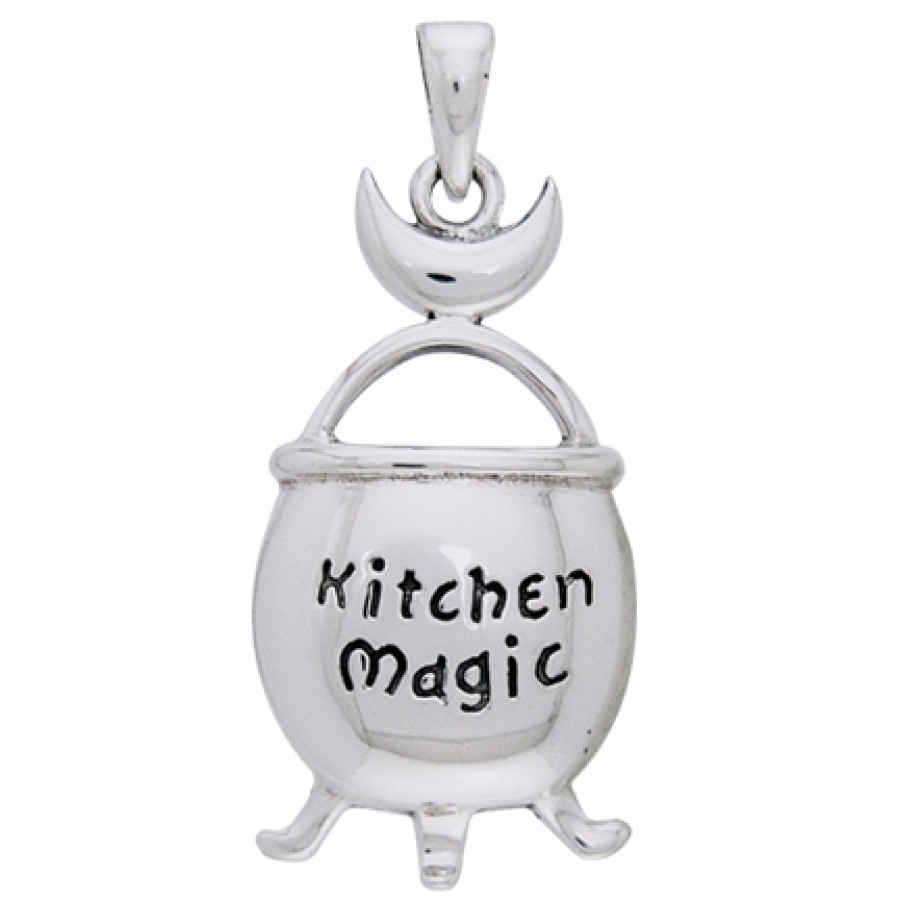 Kitchen Magic Cauldron Pendant in Sterling Silver - Wicca, Witch ...
