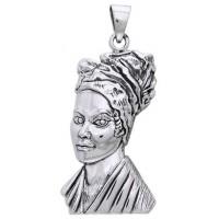 Marie Laveau Voodoo Queen Sterling Silver Pendant