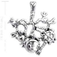 Cimaruta Sterling Silver Stregheria Witches Charm