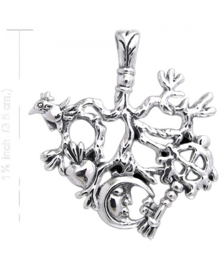 Cimaruta Sterling Silver Stregheria Witches Charm at Mystic Convergence Metaphysical Supplies, Metaphysical Supplies, Pagan Jewelry, Witchcraft Supply, New Age Spiritual Store