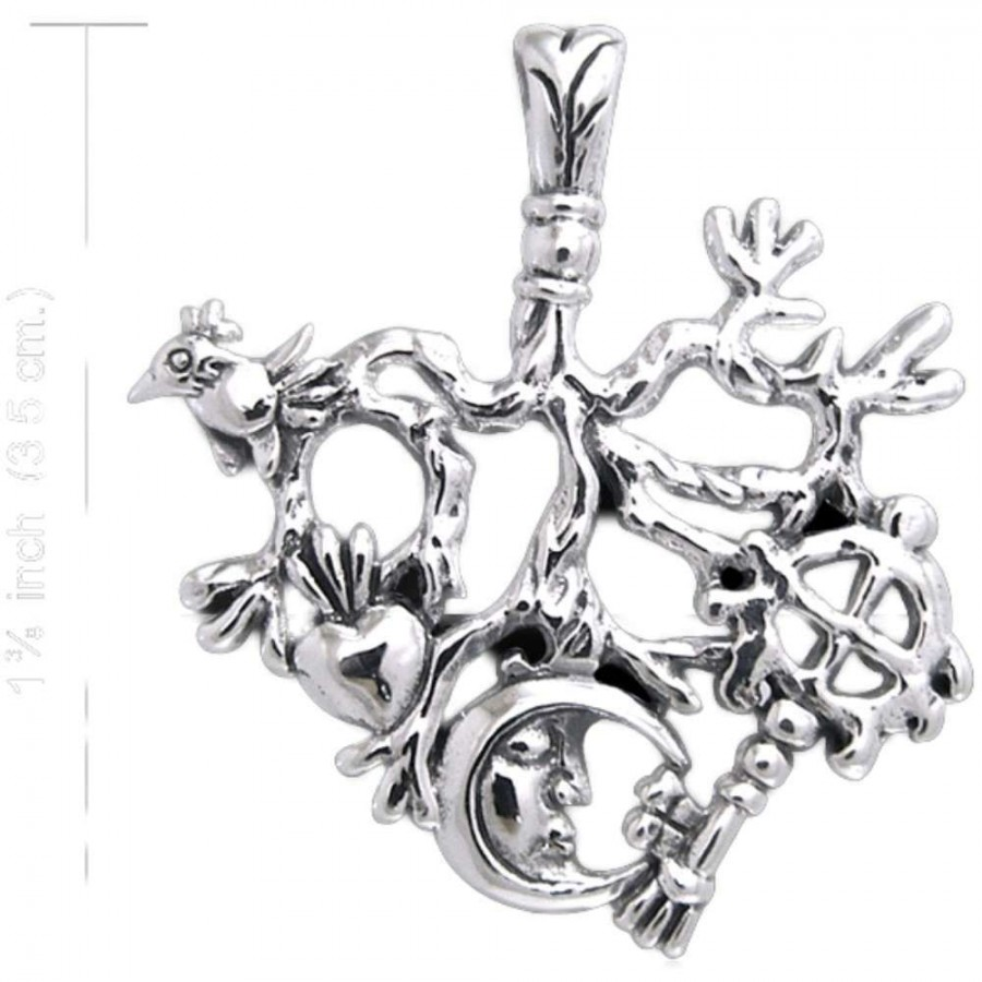 Cimaruta Stregheria Sterling Silver Witches Charm Witch Talisman