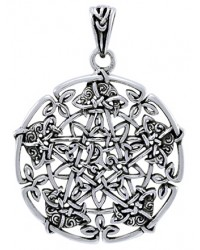 Intricate Knotwork Pentacle Pendant in Sterling Silver Mystic Convergence Metaphysical Supplies Metaphysical Supplies, Pagan Jewelry, Witchcraft Supply, New Age Spiritual Store
