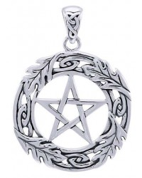 Celtic Oak Leaf Pentacle Sterling Silver Pendant Mystic Convergence Metaphysical Supplies Metaphysical Supplies, Pagan Jewelry, Witchcraft Supply, New Age Spiritual Store