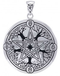 Elemental Seasons Witches Pentacle Pendant Mystic Convergence Metaphysical Supplies Metaphysical Supplies, Pagan Jewelry, Witchcraft Supply, New Age Spiritual Store
