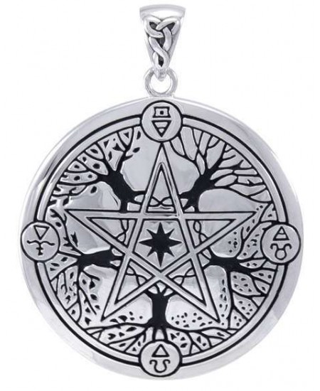 Elemental Seasons Witches Pentacle Pendant at Mystic Convergence Metaphysical Supplies, Metaphysical Supplies, Pagan Jewelry, Witchcraft Supply, New Age Spiritual Store