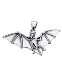 Bat in Flight Sterling Silver Pendant Mystic Convergence Magical Supplies Wiccan Supplies, Pagan Jewelry, Witchcraft Supplies, New Age Store