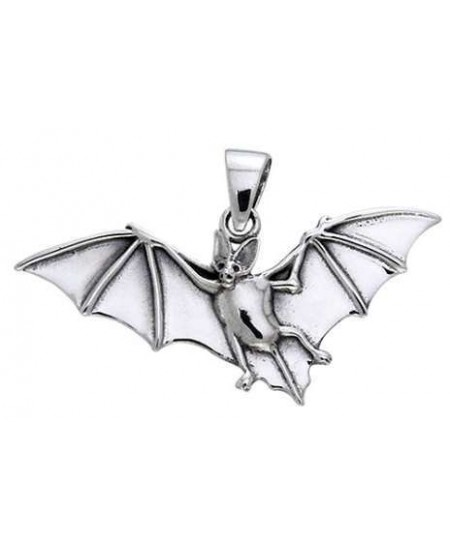 Bat in Flight Sterling Silver Pendant at Mystic Convergence Metaphysical Supplies, Metaphysical Supplies, Pagan Jewelry, Witchcraft Supply, New Age Spiritual Store