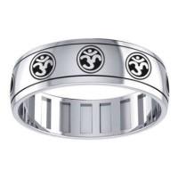 Om Symbol Sterling Silver Fidget Spinner Ring