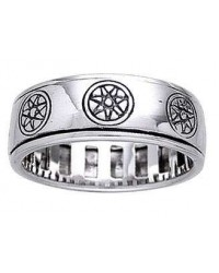 Elven Star Sterling Silver Fidget Spinner Ring Mystic Convergence Magical Supplies Wiccan Supplies, Pagan Jewelry, Witchcraft Supplies, New Age Store