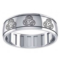 Zoomorphic Sterling Silver Fidget Spinner Ring