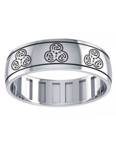 Zoomorphic Sterling Silver Fidget Spinner Ring at Mystic Convergence Metaphysical Supplies, Metaphysical Supplies, Pagan Jewelry, Witchcraft Supply, New Age Spiritual Store