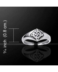 Celtic Four Point Quaternary Knot Silver Toe Ring Mystic Convergence Metaphysical Supplies Metaphysical Supplies, Pagan Jewelry, Witchcraft Supply, New Age Spiritual Store