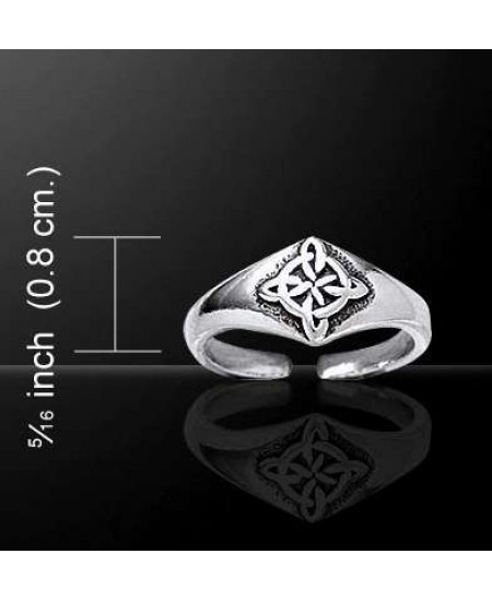 Celtic Four Point Quaternary Knot Silver Toe Ring at Mystic Convergence Metaphysical Supplies, Metaphysical Supplies, Pagan Jewelry, Witchcraft Supply, New Age Spiritual Store