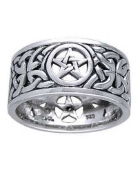 Pentacle Open Knotwork Sterling Silver Ring Mystic Convergence Metaphysical Supplies Metaphysical Supplies, Pagan Jewelry, Witchcraft Supply, New Age Spiritual Store