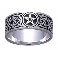 Celtic Knot Pentacle Band Ring