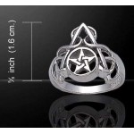 Arched Pentacle Sterling Silver Ring at Mystic Convergence Metaphysical Supplies, Metaphysical Supplies, Pagan Jewelry, Witchcraft Supply, New Age Spiritual Store