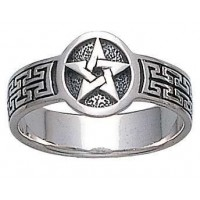 Pentacle Sterling Silver Ring