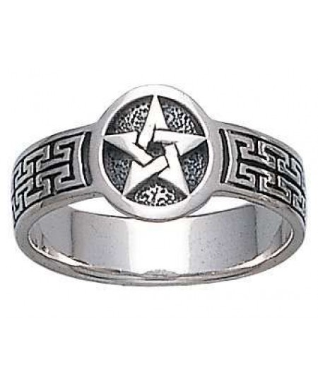 Pentacle Sterling Silver Ring at Mystic Convergence Metaphysical Supplies, Metaphysical Supplies, Pagan Jewelry, Witchcraft Supply, New Age Spiritual Store