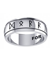 Odins Strength Runic Band Sterling Silver Fidget Spinner Ring Mystic Convergence Metaphysical Supplies Metaphysical Supplies, Pagan Jewelry, Witchcraft Supply, New Age Spiritual Store