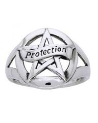 Protection Pentacle Sterling Silver Ring Mystic Convergence Metaphysical Supplies Metaphysical Supplies, Pagan Jewelry, Witchcraft Supply, New Age Spiritual Store