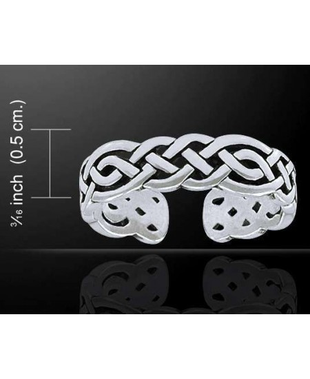 Celtic Knotwork Silver Toe Ring