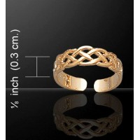 Celtic Knotwork Gold Vermeil Toe Ring