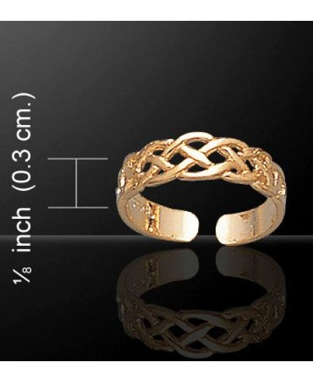 Celtic Knotwork Gold Vermeil Toe Ring at Mystic Convergence Metaphysical Supplies, Metaphysical Supplies, Pagan Jewelry, Witchcraft Supply, New Age Spiritual Store
