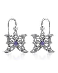 Amethyst Blue Moon Silver Earrings