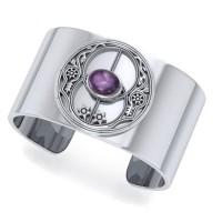 Chalice Well Amethyst Cuff Bracelet