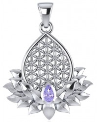 Lotus Flower of Life Amethyst Pendant Mystic Convergence Metaphysical Supplies Metaphysical Supplies, Pagan Jewelry, Witchcraft Supply, New Age Spiritual Store