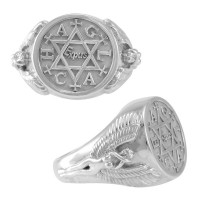 Angel Talisman Occult Large Mens Signet Ring