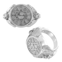 Angel Talisman Occult Small Mens Signet Ring