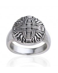 Celtic Cross of St Brigid Silver Ring Mystic Convergence Metaphysical Supplies Metaphysical Supplies, Pagan Jewelry, Witchcraft Supply, New Age Spiritual Store