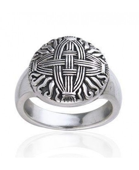 Celtic Cross of St Brigid Silver Ring at Mystic Convergence Metaphysical Supplies, Metaphysical Supplies, Pagan Jewelry, Witchcraft Supply, New Age Spiritual Store
