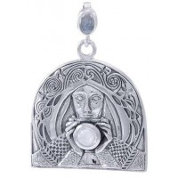 Camelot Holy Grail Knight Sterling Silver Pendant by Peter Stone Fine Jewelry