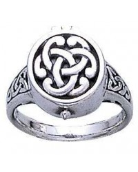 Celtic Knot Silver Poison Ring Mystic Convergence Metaphysical Supplies Metaphysical Supplies, Pagan Jewelry, Witchcraft Supply, New Age Spiritual Store