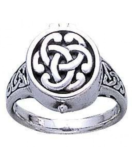 Celtic Knot Silver Poison Ring at Mystic Convergence Metaphysical Supplies, Metaphysical Supplies, Pagan Jewelry, Witchcraft Supply, New Age Spiritual Store