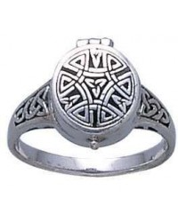 Celtic Knotwork Silver Poison Ring Mystic Convergence Metaphysical Supplies Metaphysical Supplies, Pagan Jewelry, Witchcraft Supply, New Age Spiritual Store