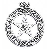 Openwork Pentacle Pendant in Sterling Silver