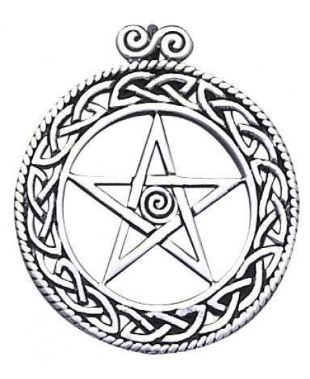 Openwork Pentacle Pendant in Sterling Silver at Mystic Convergence Metaphysical Supplies, Metaphysical Supplies, Pagan Jewelry, Witchcraft Supply, New Age Spiritual Store