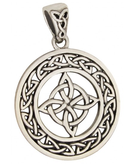 Celtic Quaternary Knot Sterling Silver Pendant at Mystic Convergence Metaphysical Supplies, Metaphysical Supplies, Pagan Jewelry, Witchcraft Supply, New Age Spiritual Store