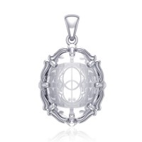 Chalice Well Natural Clear Quartz Pendant
