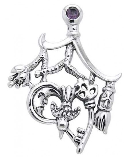 Cimaruta Stregheria Sterling Silver Witches Charm at Mystic Convergence Metaphysical Supplies, Metaphysical Supplies, Pagan Jewelry, Witchcraft Supply, New Age Spiritual Store