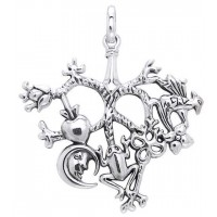 Cimaruta Large Sterling Silver Witches Charm