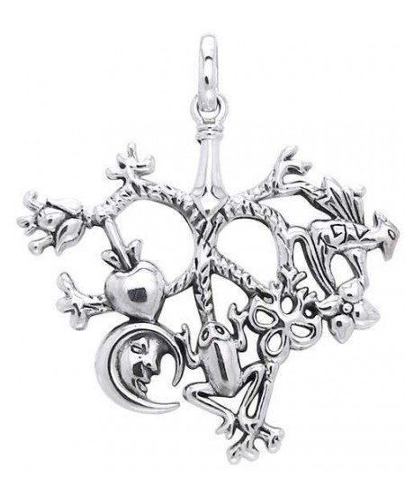 Cimaruta Large Sterling Silver Witches Charm at Mystic Convergence Metaphysical Supplies, Metaphysical Supplies, Pagan Jewelry, Witchcraft Supply, New Age Spiritual Store