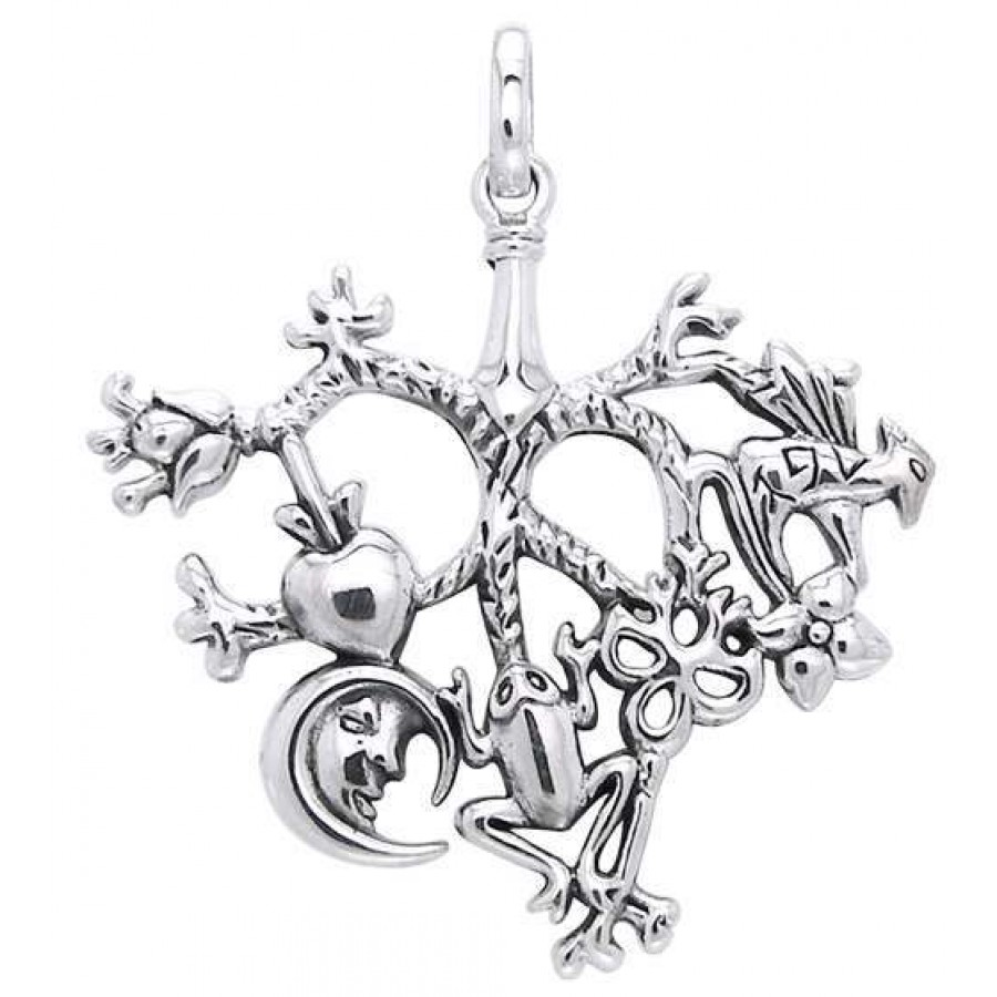 Cimaruta Large Sterling Silver Witches Charm Witch Talisman