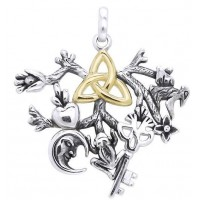 Cimaruta Triiquetra Stregheria Sterling Silver Witches Charm
