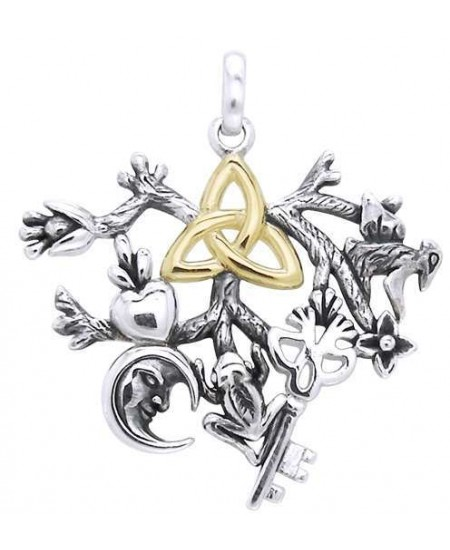 Cimaruta Triiquetra Stregheria Sterling Silver Witches Charm at Mystic Convergence Metaphysical Supplies, Metaphysical Supplies, Pagan Jewelry, Witchcraft Supply, New Age Spiritual Store