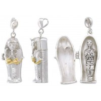 Egyptian Coffin Pendant with Mummy